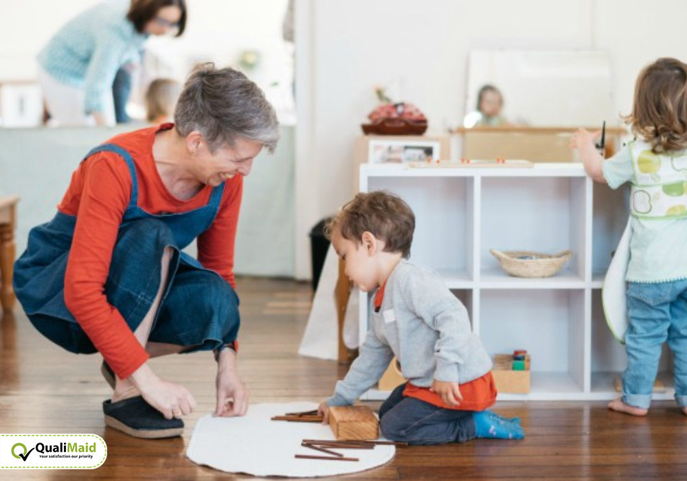 Bring in use all supplies for Kids Room Cleaning Services.